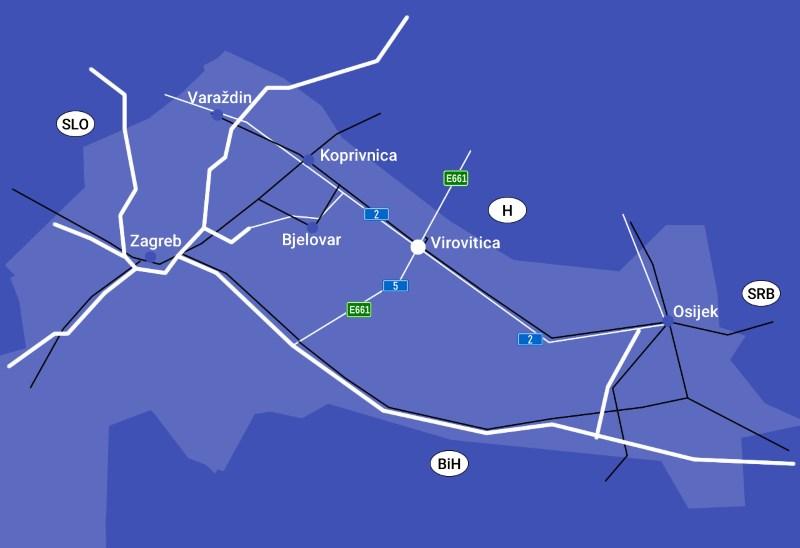 Smjestaj I Prometna Povezanost Poduzetnicke Zone Grada Virovitice